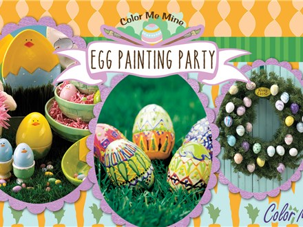 Easter Egg Painting pARTy with Easter Bunny
