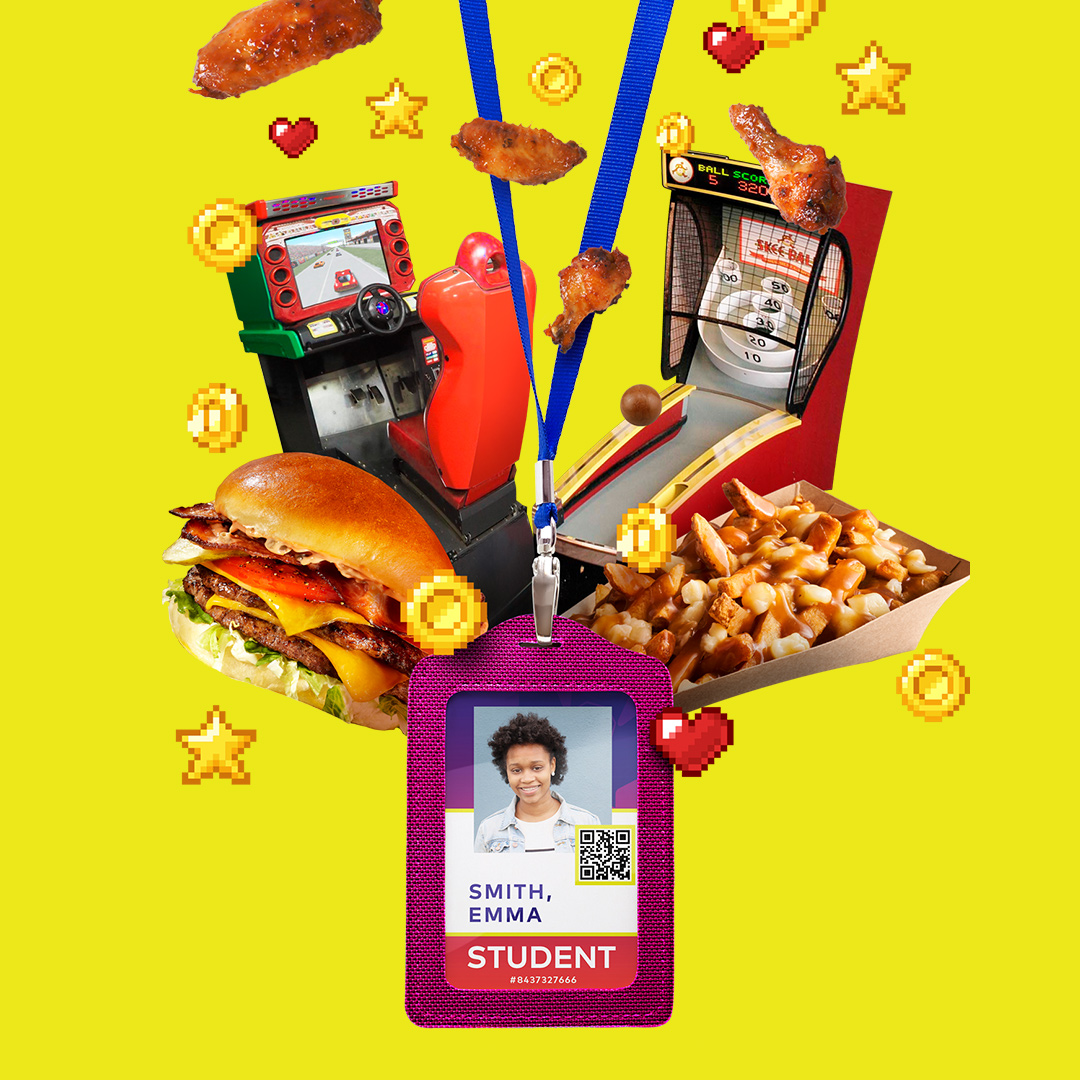 Students Save 15% Off on Food and Gaming Credits Every Day!
