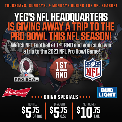 Win a Trip to the Pro Bowl this NFL Season!
